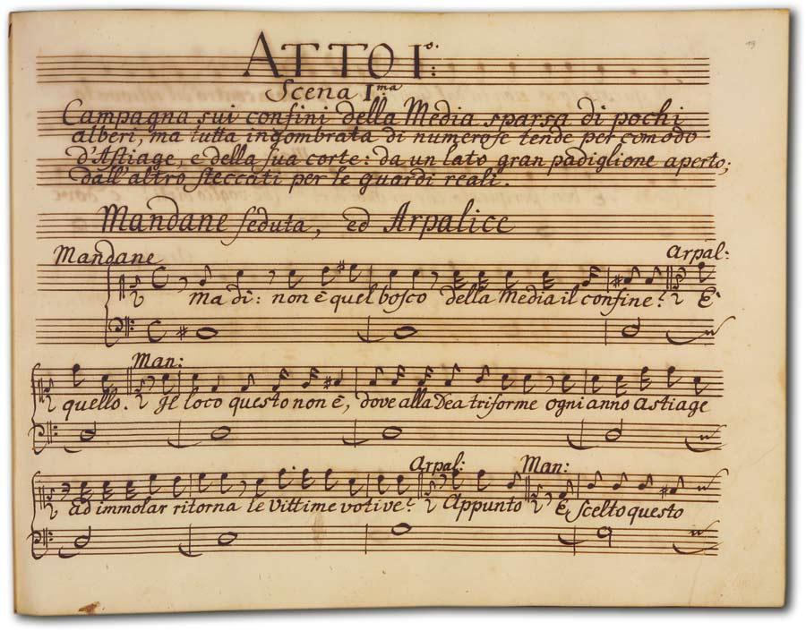 J. A. Hasse: Ciro riconosciuto (Fassung 1754), D-Hs, ND VI 2933, Bd. 1, fol. 19r