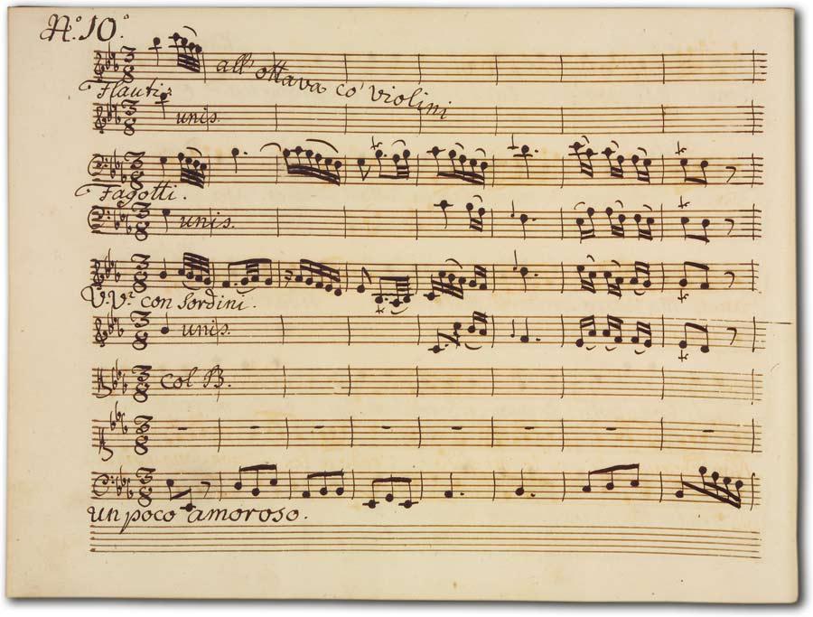 J. A. Hasse: Ciro riconosciuto (Fassung 1747), D-Hs, ND VI 2933a, Bd. 2, fol. 3v