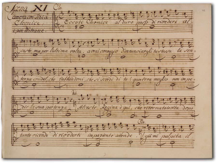 J. A. Hasse: Demetrio (Fassung 1740), D-Hs, ND VI 2936, Bd. 2, fol. 42r