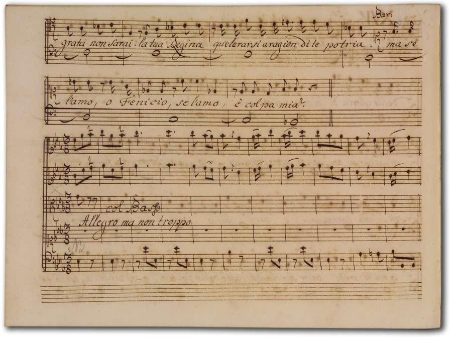 J. A. Hasse: Demetrio (Fassung 1740), D-Hs, ND VI 2936, Bd. 2, fol. 70v