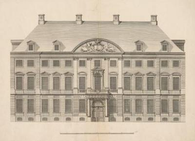 Christian Fritzsch (1695–1769): Das Görtz-Palais auf dem Neuen Wall [Aufriss]