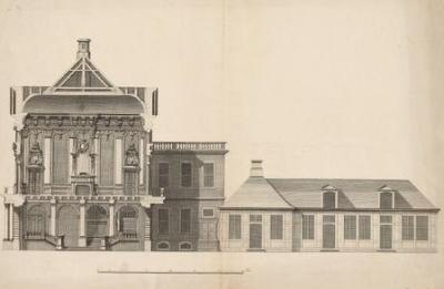 Christian Fritzsch (1695–1769): Das Görtz-Palais auf dem Neuen Wall [Seitenriss]