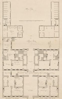 Christian Fritzsch (1695–1769): Das Görtz-Palais auf dem Neuen Wall [Grundriss]