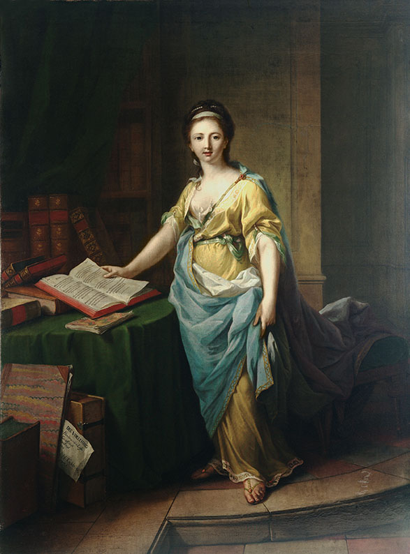 Die Vorlesung oder Das Bild der Teone, Maler: Johann Heinrich Tischbein d.Ä.