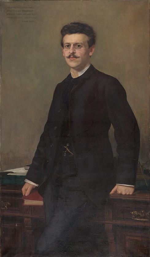 Bildnis Richard Dehmel, Maler: Ludwig Krüger
