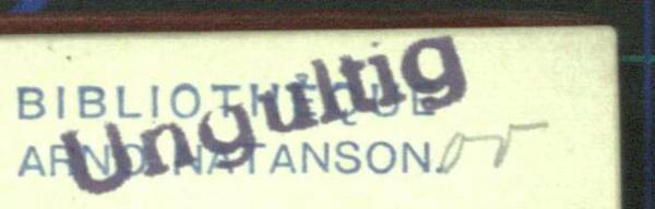 [Translate to Englisch:] Bibliotheque Arno Natanson