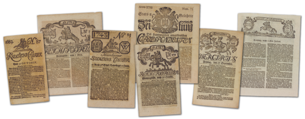 Hamburg newspapers 1700