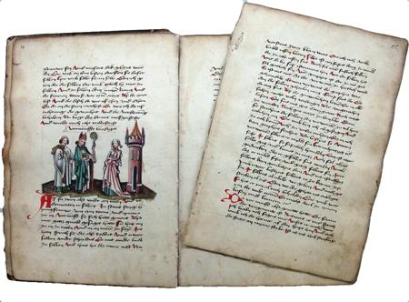 Pilgerfahrt des träumenden Mönchs - Handschrift