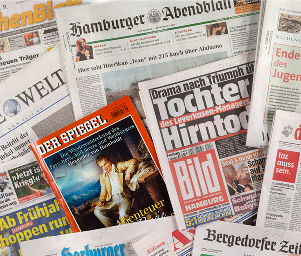 Newspapers published in Hamburg
