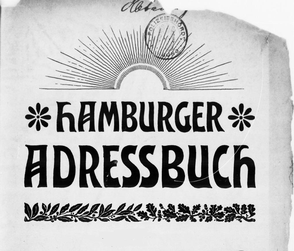 Titelblatt Hamburger Adressbücher
