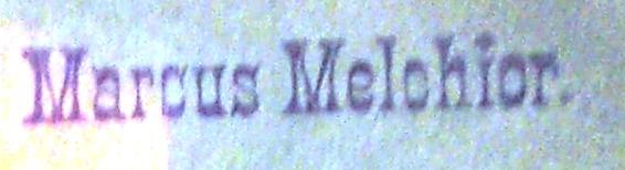 Melchior, Marcus