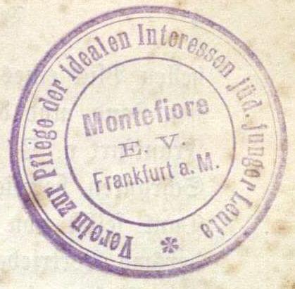 Verein zur Pflege der idealen Interessen jüd. junger Leute. Montefiore e.V.