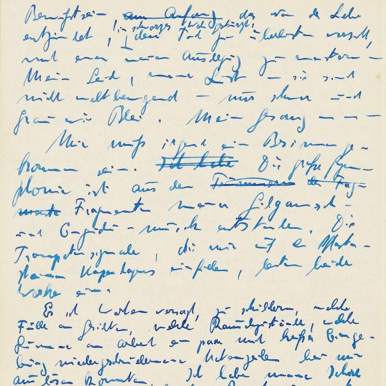 Brief von Hans Henny Jahnn