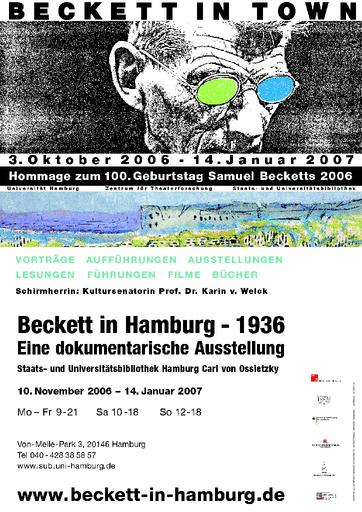 Beckett in Hamburg - 1936