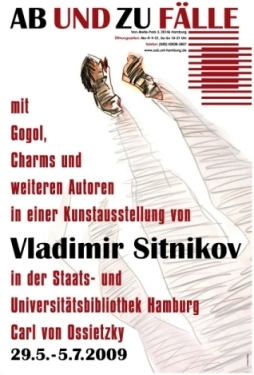 Ab und zu Fälle mit Gogol, Charms und weiteren Autoren in einer Kunstausstellung von Vladimir Sitnikov