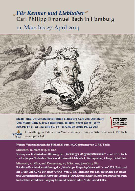 """Zum 300. Jubiläum von Carl Philipp Emanuel Bach""""Für Kenner und Liebhaber"""" - Carl Philipp Emanuel Bach in Hamburg"""