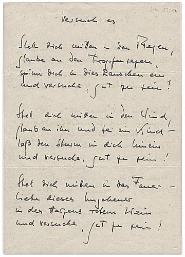 handschrift versuch es - Wolfgang Borchert Lebenslauf