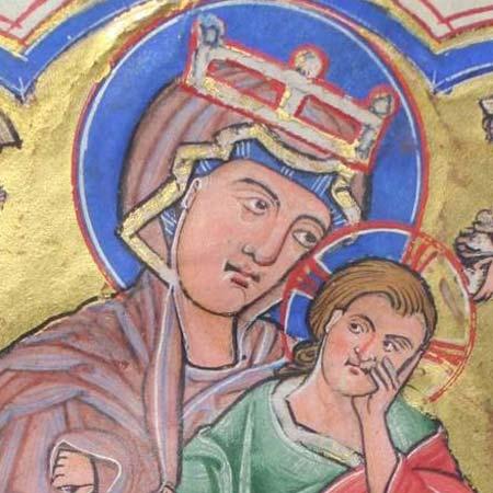 Psalterhandschrift auf Pergament, Thüringen/Sachsen um 1220