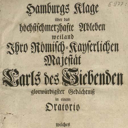 Hamburger Trauermusik für Kaiser Karl VII.
