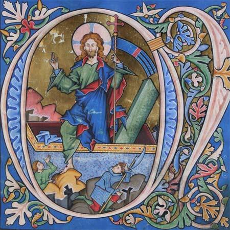Kostbares Lektionar aus dem Mittelalter