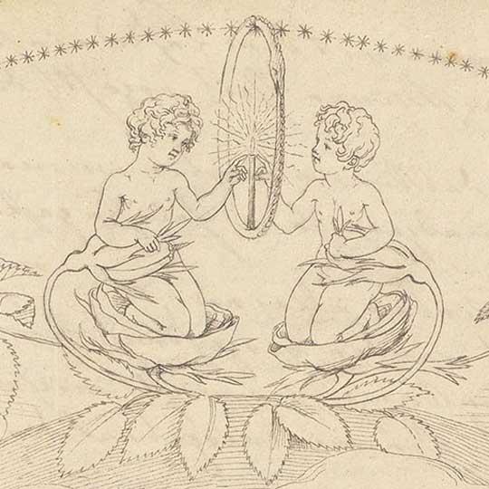 """Philipp Otto Runge – Abschrift aus Tiecks """"Minneliedern"""" (1803)"""